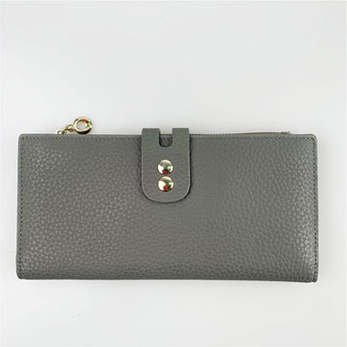 Genuine leather flat wallet